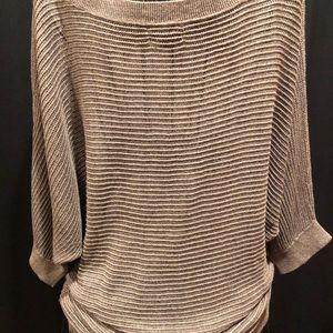 Express tan color sweater.